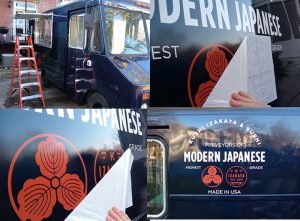 Vehicle Decals custom vinyl vehicle wrap installation graphics 300x221